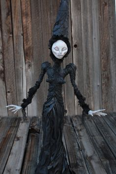 OOAK hand sculpted witch gothic horror art by chrisandrescreations