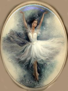 'Ballet Dancer', Lacquer Art by Slaeva Liliana. Ballet Art, Ballet Dancers, Ballerinas, Ballerina Kunst, Ballet Posters, Ballerina Painting, Ballet Images, Art Journal Techniques, Victorian Art