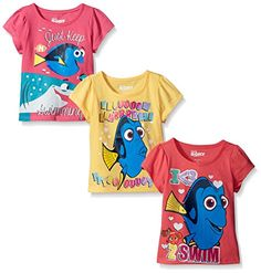 Disney Girls' 3 Pack Finding Dory Tee Shirts *** Find out more details @ Disney Shirts For Family, Shirts For Teens, Couple Shirts, Sorority Shirts, Tee Shirts, Tees, Disney Finding Dory, Girls Dress Up, Disney Girls