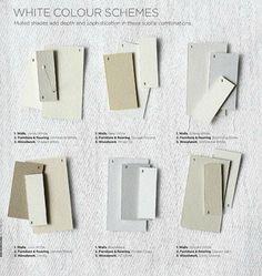 White colour schemes