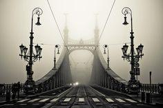 Foggy Bridge in Budapest