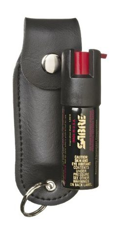 Sabre Pepper Spray with Black Case And Key Ring 12Ounce  now with 5xs more spray -- Check this awesome product by going to the link at the image.