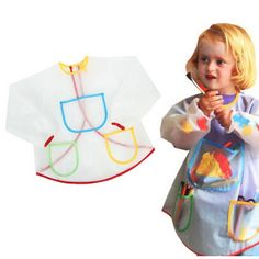 >> Click to Buy << 2017 Multifunctional Kids Baby Apron Smock with 3 Pockets Painting Drawing Home Apron Anti-Wear Waterproof Costume Crafts #Affiliate