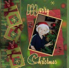 Christmas Scrapbook Layouts | Christmas Printables
