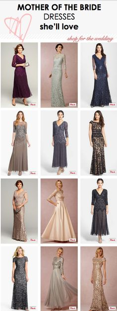 Mother of the Bride Dresses She'll Love! www.RadiantSkin.Rocks