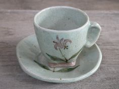 Ceramic Handmade Japanese Pottery Coffee Cup and by Singhato