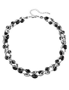 Multi-Faceted Assorted Bead Twist Necklace Clothing