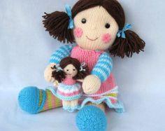 Sunny Sally toy doll knitting pattern PDF INSTANT by toyshelf