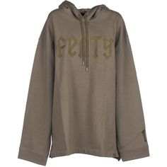 Puma Fenty by Rihanna Ls Graphic Hoodie ($116) ❤ liked on Polyvore featuring tops, hoodies, olive branch, hooded pullover, hooded sweatshirt, olive green hoodies, army green hoodie and sweatshirt hoodies