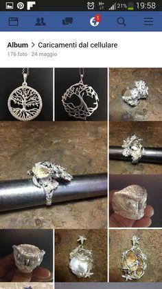 pendenti ed anelli in argento