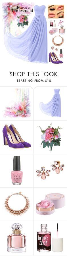 """Perfect bridesmaid"" by lanagur on Polyvore featuring мода, Remedios, Jimmy Choo, OPI, Marchesa, Ellen Conde, Lancôme, Guerlain, Benefit и Cynthia Rowley"