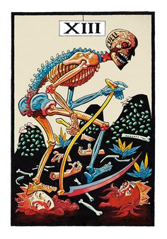13. L'Arcane Sans Nom (The Nameless Arcanum) by Jamie Hewlett I love that Death is standing over the heads of the Empress and Emperor. #tarot
