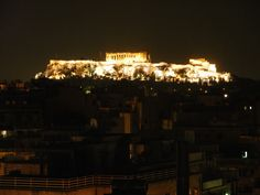 Rooftop view of the spectacular Acropolis, Life In Greece: Athens Acropolis, Capital City, Athens, Rooftop, Greece, Night, Blog, Travel, Life