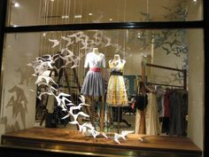 We should do really dramatic window displays like this