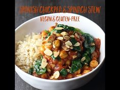 Spanish chickpea and spinach stew - Lazy Cat Kitchen