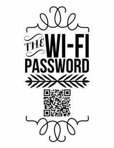 Connect guests to home wifi with a QR code.