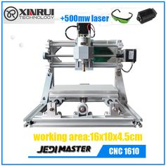 CNC 1610+500mw laser GRBL DIY CNC machine, 3 Axis Pcb  Milling Machine ,Wood Router,laser engraver