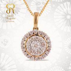 Vanna Diamond Pendant from Gold Regalia. Visit to buy Diamond #Pendant : https://goo.gl/7zzg9k #Ring #Bracelets #GoldJewelry #Classyjewelry