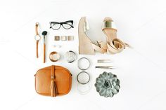 Clothes & accessories collage by Floral Deco on @creativemarket