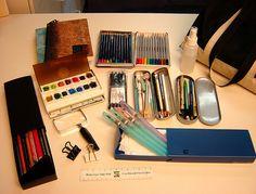 A Nature Art Journal in Southwest Florida: My portable art kit - a pretty extensive list