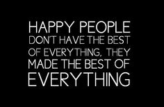 What does people happy? or, what does happy people?