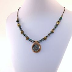 Turquoise Swirl Necklace Choker Style Turquoise by CinLynnBoutique, $28.00