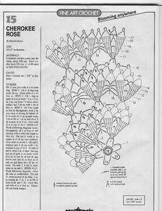 "Photo from album ""магия вязания on Yandex. Thread Crochet, Crochet Doilies, Doily Patterns, Crochet Patterns, Cherokee Rose, Crochet Magazine, Views Album, Crochet Projects, Applique"