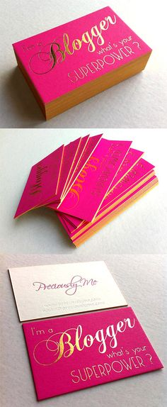 pink gold business card