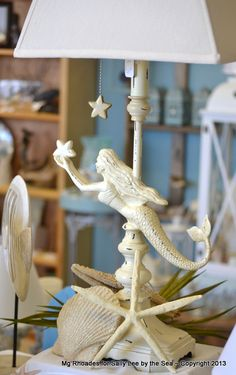 Mermaid Coastal Beach House Lamp
