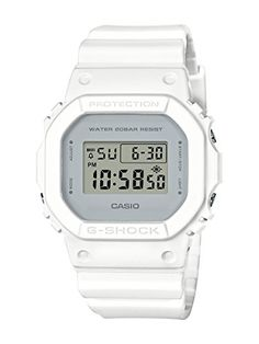 Casio G-Shock Classic Design Series Square White Watch DW5600CU-7