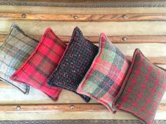 Vintage wool balsam pillows in Christmas by WismerClarkeSalvage