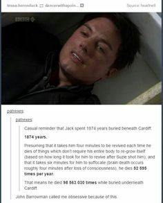 Because DW makes you smarter.<==This isn't even Doctor Who, it's Torchwood Torchwood, Chris Evans, Captain Jack Harkness, John Barrowman, Don't Blink, Geek Out, David Tennant, Hilarious, Funny