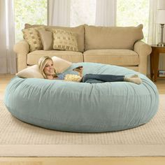 Giant Bean Bag Chairs: I've ALWAYS wanted one of these! I have a smaller one I'm going to put in my room