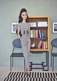Poppy Parker The Happening, wearing Victoria Designs, with new Marcia Harrys cabinet.