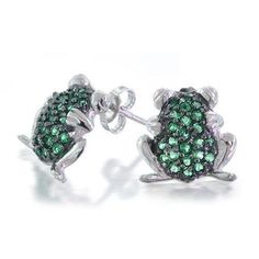 Purchase Garden Green Frog Todd Cubic Zirconia Pave CZ Stud Earrings For Women For Teen 925 Sterling Silver from Bling Jewelry Inc on OpenSky. Share and compare all Jewelry. Emerald Green Earrings, Emerald Jewelry, Bling Jewelry, Silver Jewellery, Crystal Jewelry, Animal Earrings, Animal Jewelry, Stud Earrings, Rose Gold Pendant