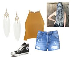"""""""Hola"""" by shazzaandme ❤ liked on Polyvore featuring Glamorous and Converse"""