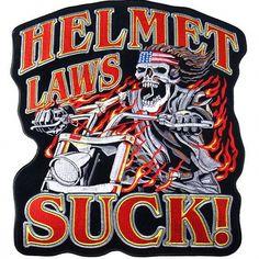 Helmet Laws Suck patch - Aufnäher Helm Gesetze sind Scheiße - chevron El casco de las Leyes de mierda - нашивка Закон о Шлемах Отстой