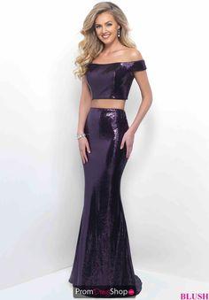 Long Blush Sequins Dress 11296