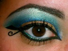 Ha...these were totally my eyes for the play...minus the gold and curly cue...Cleopatra