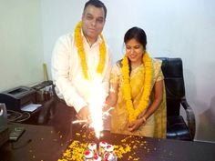 Happy Marriage Anniversary, to a beautiful couple! May the freshness of your love, always remain.....  Satisfaction Web Solution Pvt. Ltd. family Wishing Happy Marriage Anniversary to the Director and her husband.