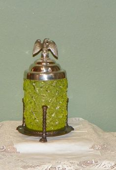 Antique Victorian PICKLE CASTER EAPG Daisy Button by FavrileFinds, $158.00