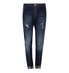 Justine blue ripped style jeans
