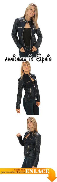 """Mujer Chaqueta de cuero auténtico """"estilo ciclistas"""" Made in Italy. Chaqueta de cuero Made in Italy. chaqueta de cuero de alta calidad. Grande para las temporadas otoño-primavera. Tablas mide Descripción. Excelente relación calidad-precio #Ropa #OUTERWEAR"""