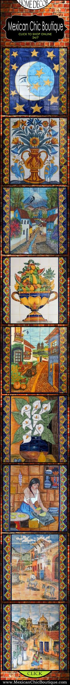 Beautiful colorful Mexican Tile, I love these!!!