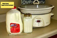 How to make Greek Yogurt in the Crockpot - healthy recipe