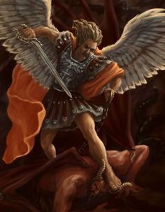 Who is like unto God! Go St Michael -- we really need you because the devil is ubiquitous. St. Michael Tattoo, Archangel Michael Tattoo, Wolf Tattoo Sleeve, Demon Tattoo, Christian Warrior, Christian Art, Vs Angels, Angels And Demons, Male Angels