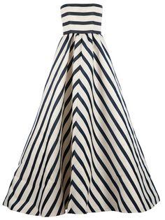OSCAR DE LA RENTA - striped evening dress
