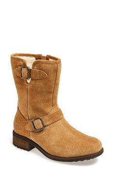 UGG® Australia UGG® Australia 'Chaney' Water Resistant Suede Moto Boot (Women) available at #Nordstrom