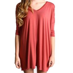 Marsala Piko V-Neck Half Sleeve Tunic SMALL Top is BRAND NEW! But may not come with tags. CONTENT & CARE 95% Bamboo 5% Spandex Machine wash cold with like colors Do not bleach  Do not use fabric softener  Hang to dry DETAILS & FIT Model is wearing size medium. Unlined Piko Tops Tunics