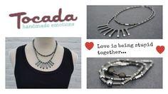 Iets voor Valentijnsdag? Nieuw bij Tocada.nl: Dubbele ketting van Hematiet en lava met bijpassende armbandjes.